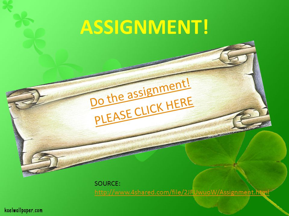 ASSIGNMENT.Do the assignment.