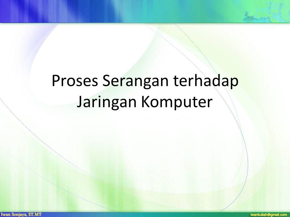 Proses Serangan terhadap Jaringan Komputer