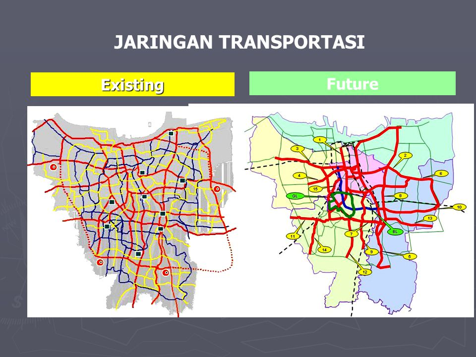 Existing Future JARINGAN TRANSPORTASI