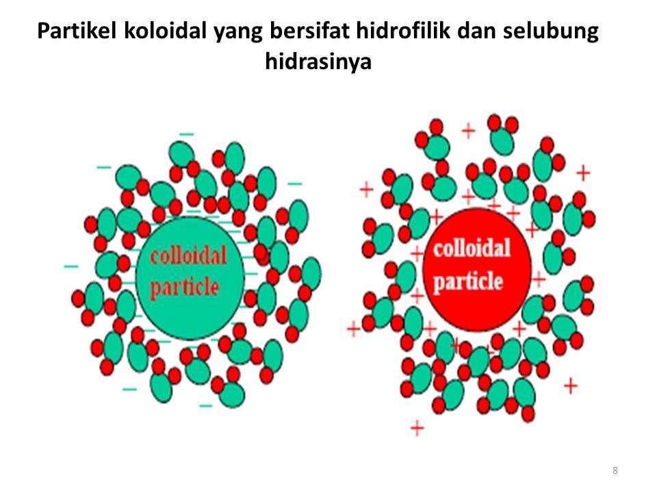 8 Partikel koloidal yang bersifat hidrofilik dan selubung hidrasinya