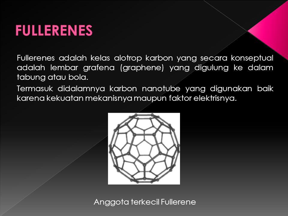 Fullerenes adalah kelas alotrop karbon yang secara konseptual adalah lembar grafena (graphene) yang digulung ke dalam tabung atau bola.