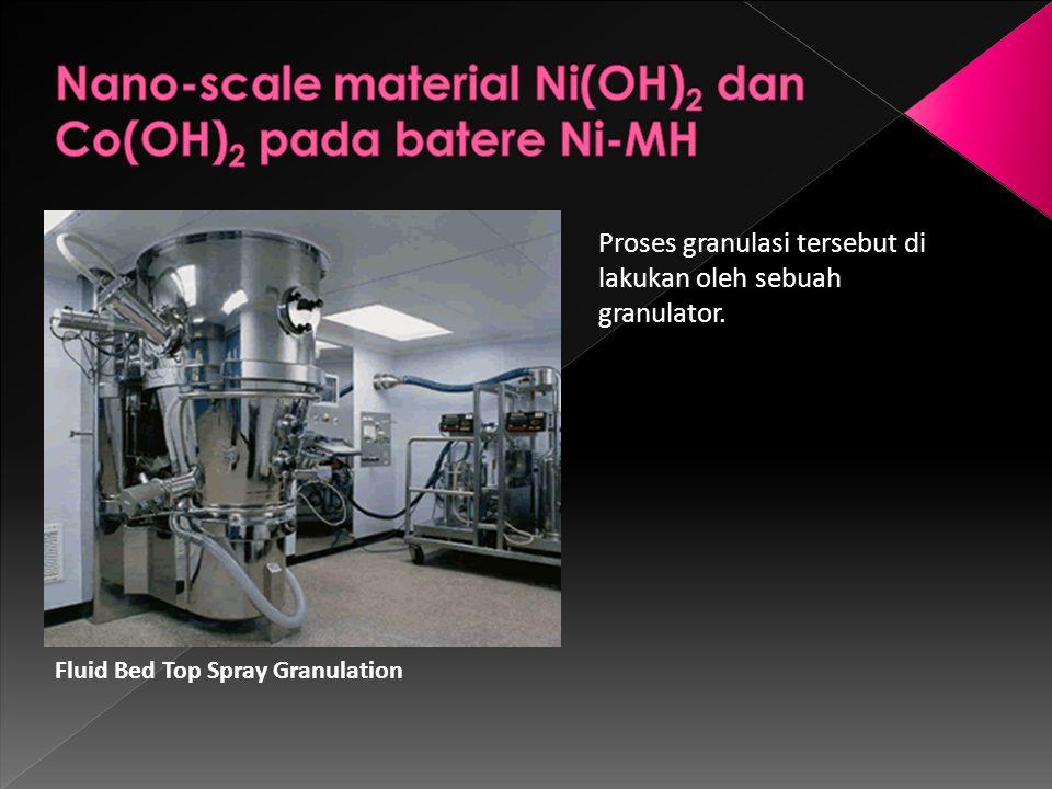Fluid Bed Top Spray Granulation Proses granulasi tersebut di lakukan oleh sebuah granulator.