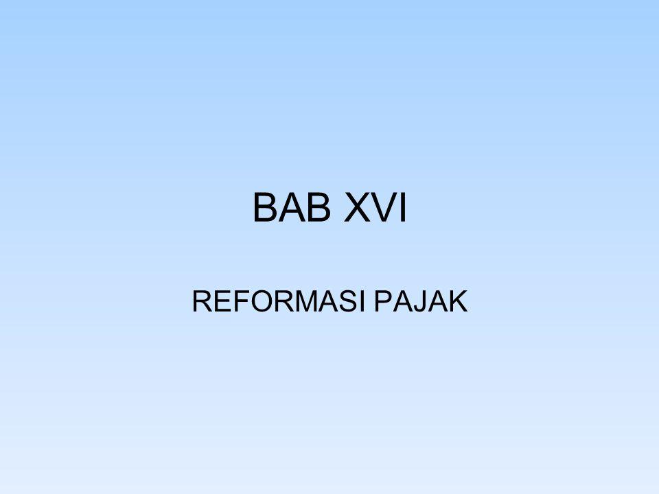 BAB XVI REFORMASI PAJAK