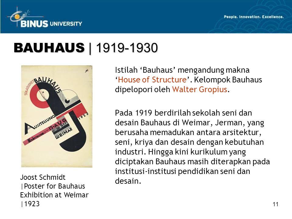 11 Istilah 'Bauhaus' mengandung makna 'House of Structure'.