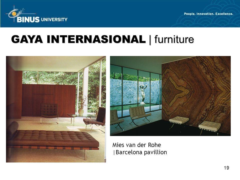 19 Mies van der Rohe  Barcelona pavillion GAYA INTERNASIONAL   furniture