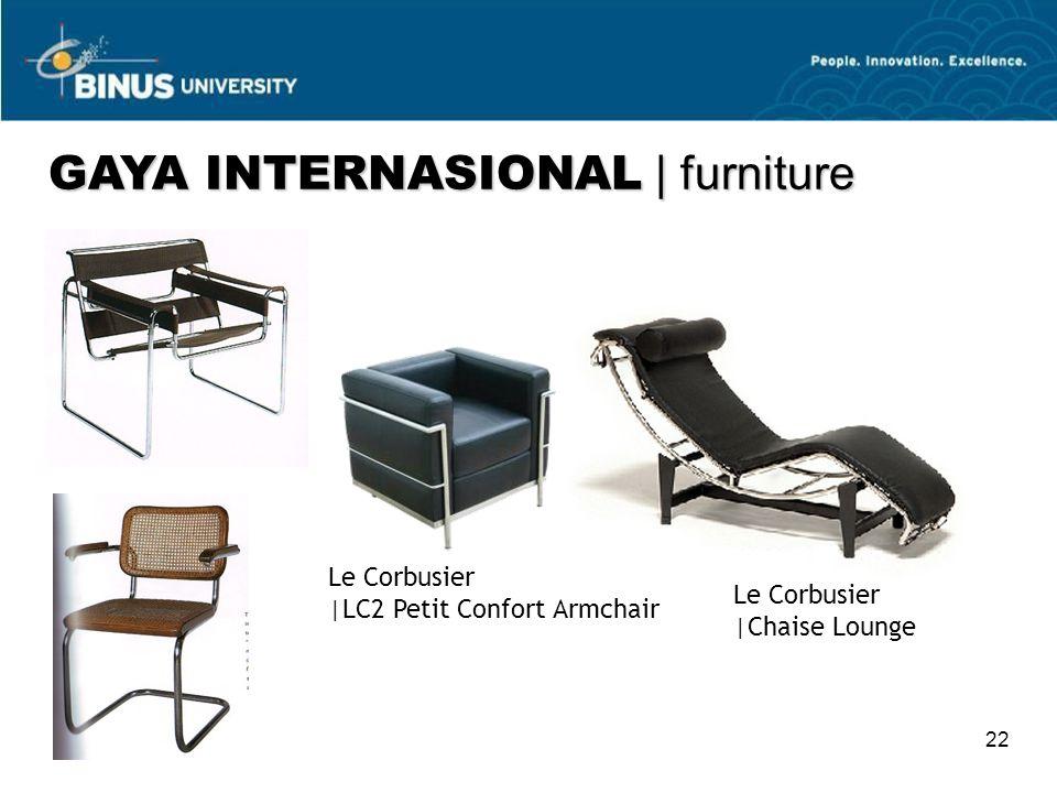22 Le Corbusier  LC2 Petit Confort Armchair Le Corbusier  Chaise Lounge GAYA INTERNASIONAL   furniture