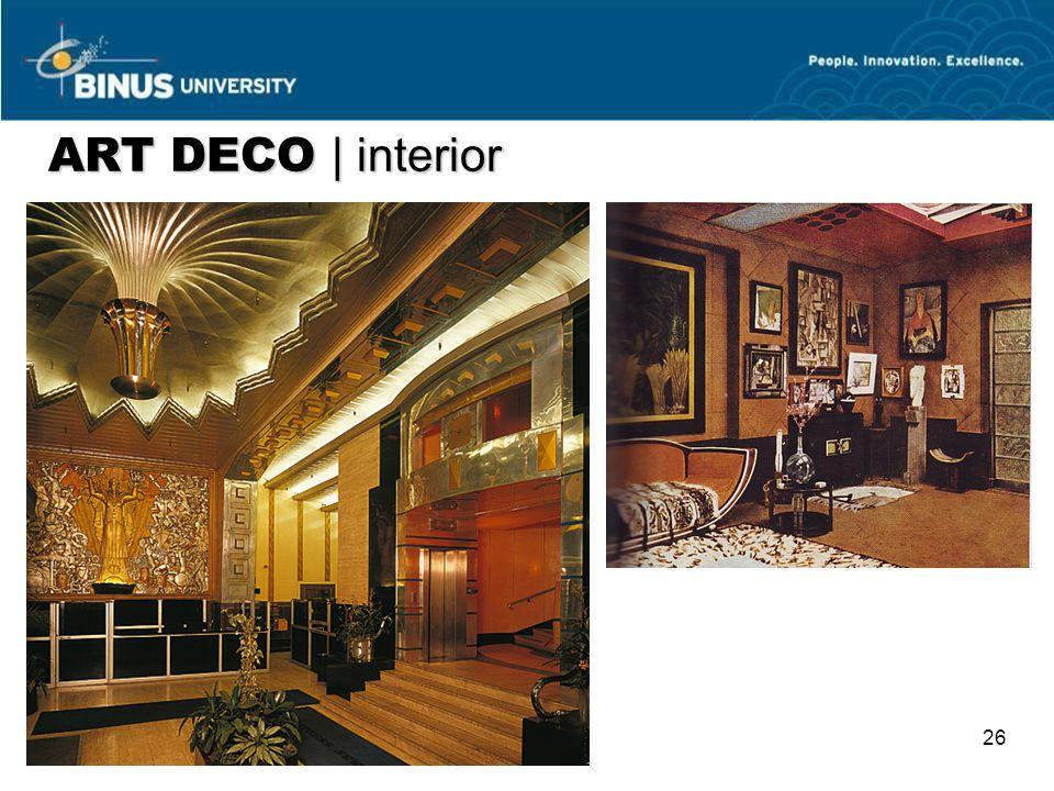 26 ART DECO   interior