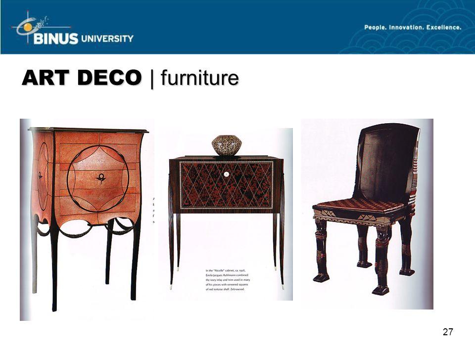 27 ART DECO   furniture
