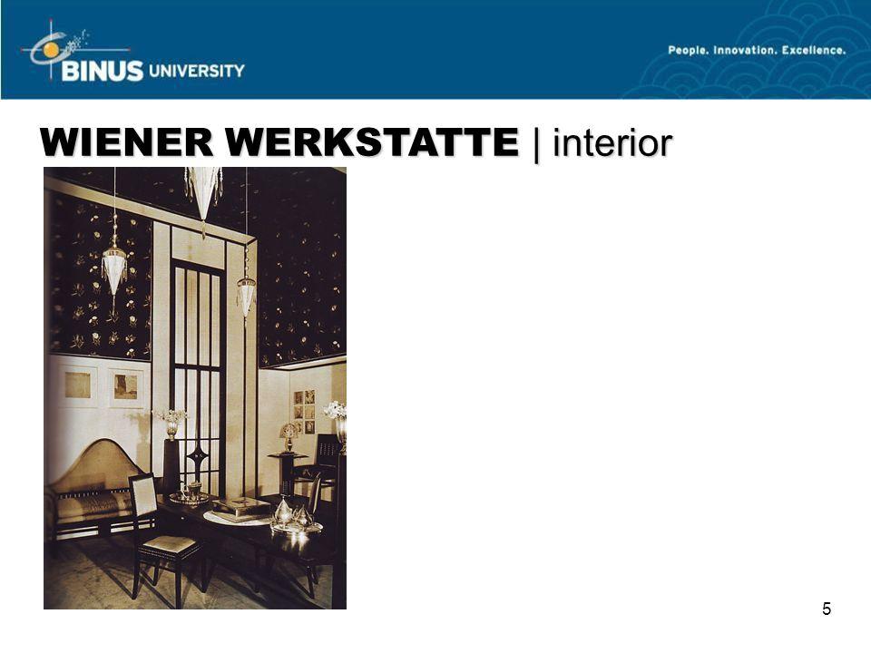 5 WIENER WERKSTATTE   interior