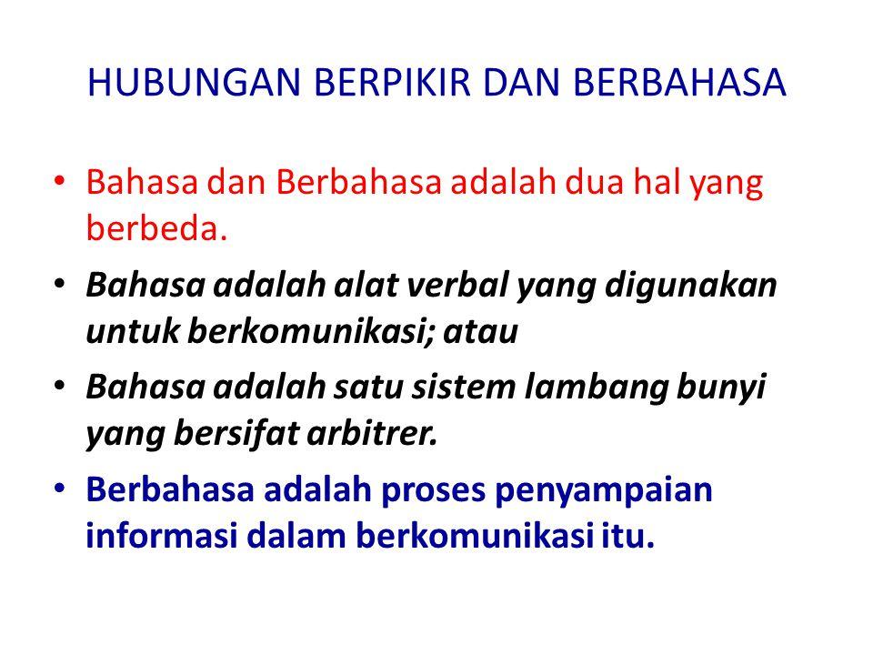 Sebagai alat perhubungan di tingkat nasional, bahasa Indonesia digunakan untuk berkomunikasi dalam hubungannya dengan pelaksanaan pembangunan di berbagai sektor.
