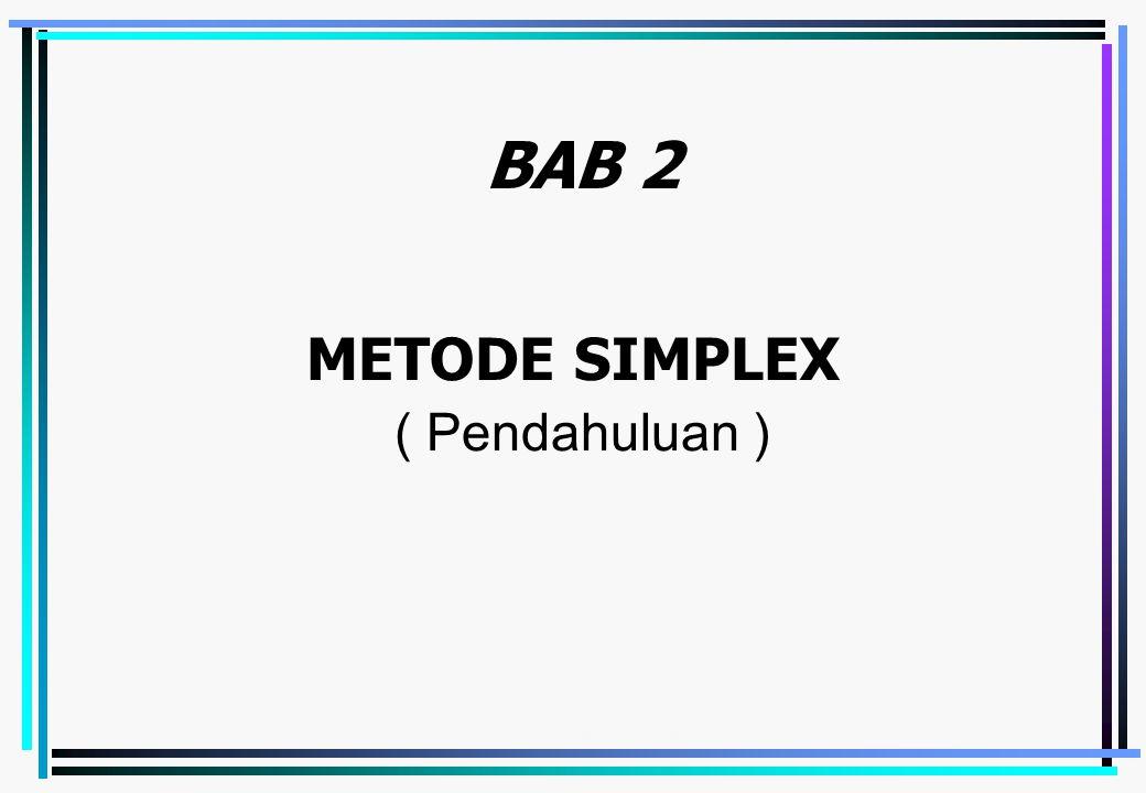 Emirul Bahar - Metode Simplex4-1 METODE SIMPLEX ( Pendahuluan ) BAB 2