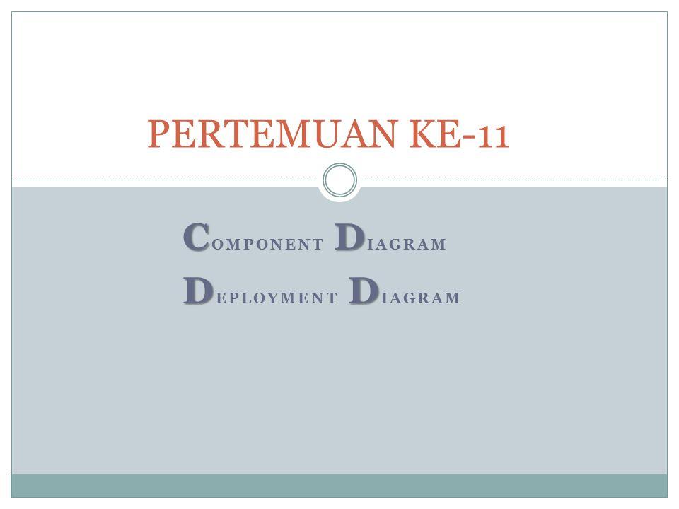 CD C OMPONENT D IAGRAM DD D EPLOYMENT D IAGRAM PERTEMUAN KE-11