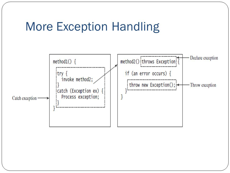 More Exception Handling