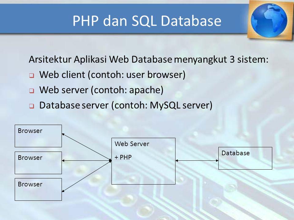 Database MySQl adalah sebuah database yang mampu berinteraksi dengan aplikasi lain.