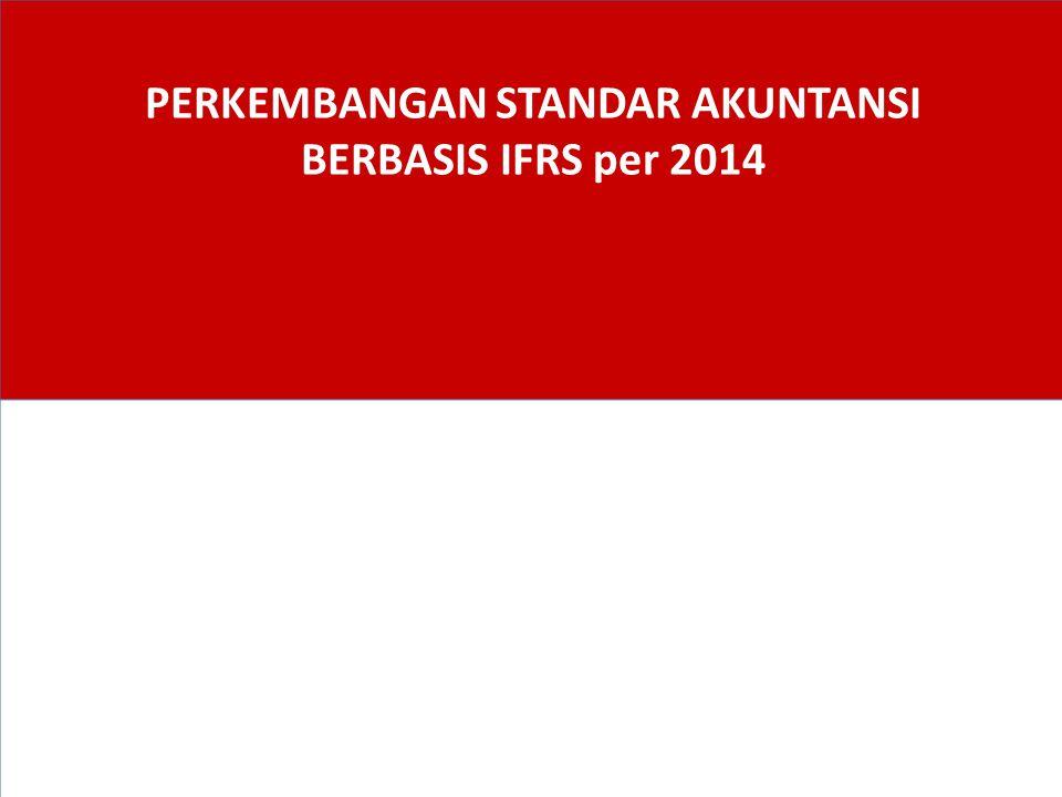 PSAK yang Disahkan 19 Desember 2013 1.PSAK 1 (2013): Penyajian Laporan Keuangan 2.PSAK 4 (2013): Laporan Keuangan Tersendiri 3.PSAK 15 (2013): Investasi pada Entitas Asosiasi dan Ventura Bersama 4.PSAK 24 (2013): Imbalan Kerja 5.PSAK 65: Laporan Keuangan Konsolidasian 6.PSAK 66: Pengaturan Bersama 7.PSAK 67: Pengungkapan Kepentingan dalam Entitas Lain 8.PSAK 68: Pengukuran Nilai Wajar 22 Berlaku efektif 1 Januari 2014 (penerapan dini tidak diperkenankan)
