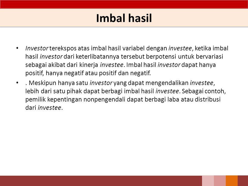 Imbal hasil Investor terekspos atas imbal hasil variabel dengan investee, ketika imbal hasil investor dari keterlibatannya tersebut berpotensi untuk b