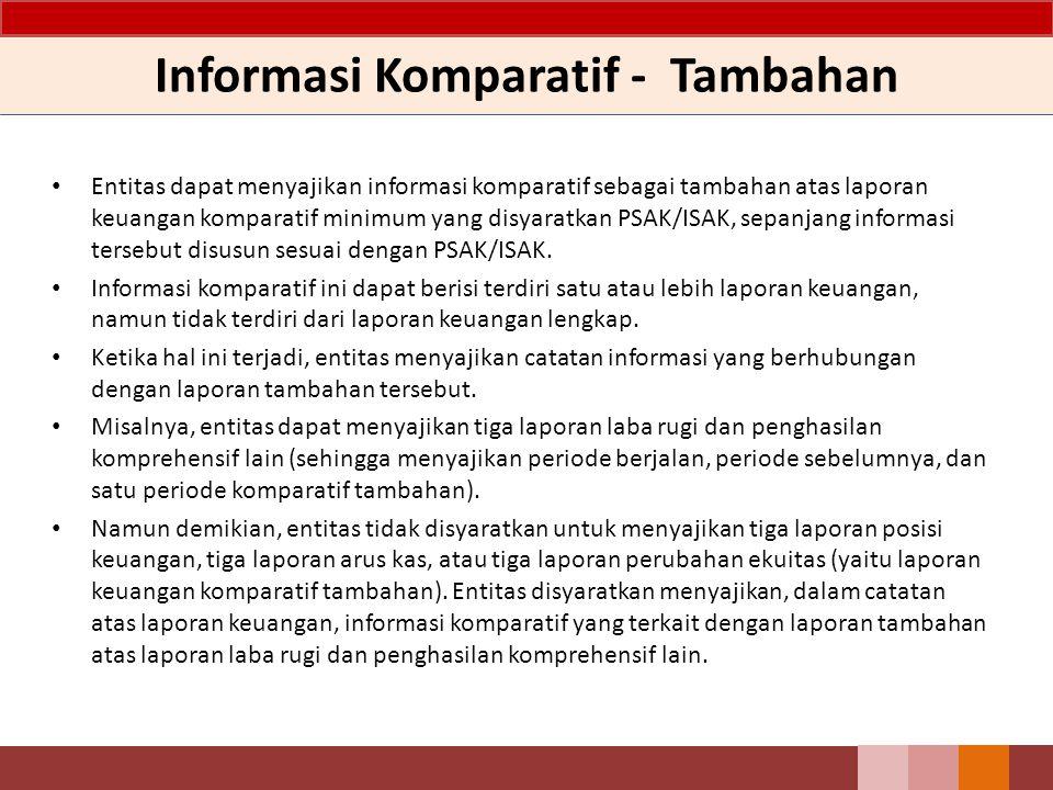 Informasi Komparatif - Tambahan Entitas dapat menyajikan informasi komparatif sebagai tambahan atas laporan keuangan komparatif minimum yang disyaratk