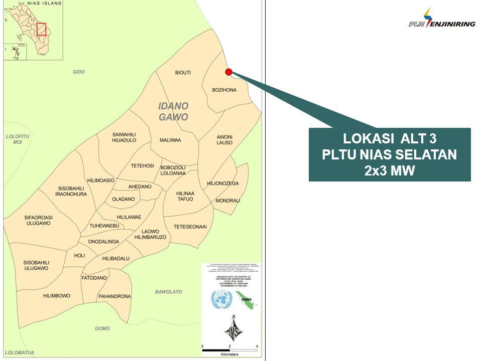 LOKASI ALT 3 PLTU NIAS SELATAN 2x3 MW