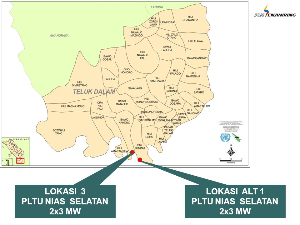 LOKASI ALT 1 PLTU NIAS SELATAN 2x3 MW LOKASI 3 PLTU NIAS SELATAN 2x3 MW