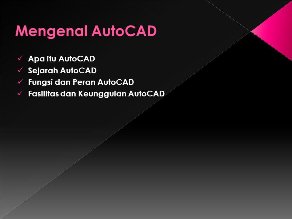 Apa itu AutoCAD Sejarah AutoCAD Fungsi dan Peran AutoCAD Fasilitas dan Keunggulan AutoCAD