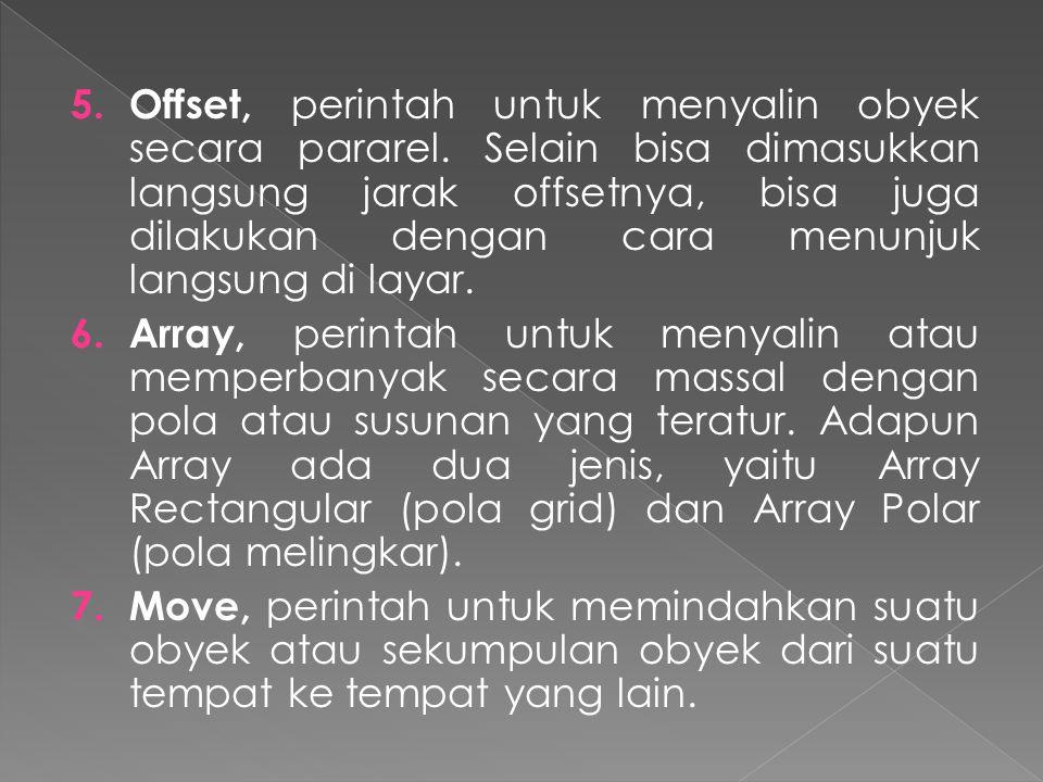 5.Offset, perintah untuk menyalin obyek secara pararel.