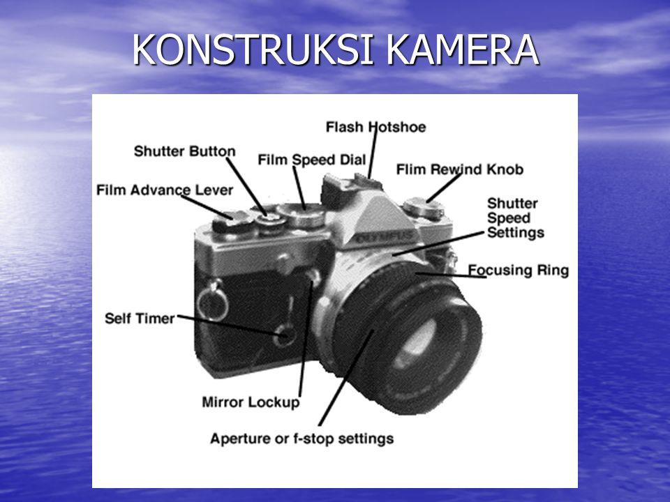 Film Advance lever Adalah tuas penggerak film kekanan untuk memindahkan satu frame kedepan setiap kali hendak melakukan pengambilan gambar Viewinder (Jendela Intip Adalah semacam teropong yang kita gunakan untuk menempatkan gambar yang hendak kita potret.