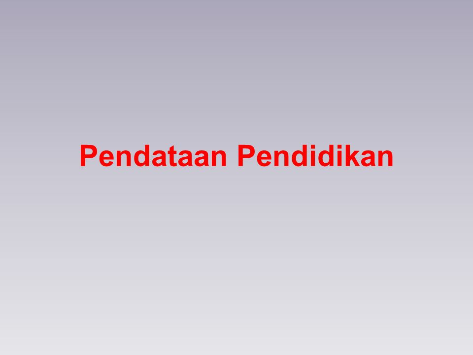Jenis Lembaga Yang Menjadi Objek Pendataan Jenis Lembaga yang didata adalah : Raudhtaul Athfal (RA) Madrasah Ibtidaiyah (MI) Madrasah Tsanawiyah (MTs) Madrasah Aliyah (MA) Pondok Pesantren.