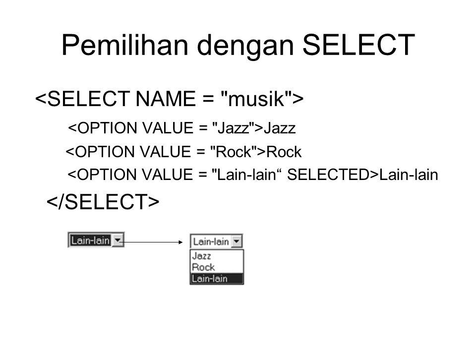 Pemilihan dengan SELECT Jazz Rock Lain-lain