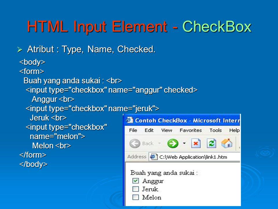 Contoh External Style Sheet Contoh script efek.css body { color: green; color: green; background: white; background: white; font-family : arial; font-family : arial; } <HTML> centranet centranet <LINK REL= STYLESHEET <LINK REL= STYLESHEET TYPE= text/css HREF= efek.css > TYPE= text/css HREF= efek.css > PENS ITS PENS ITS PENS ITS adalah kampus teknik yang concern ke bidang elektro PENS ITS adalah kampus teknik yang concern ke bidang elektro</BODY></HTML>