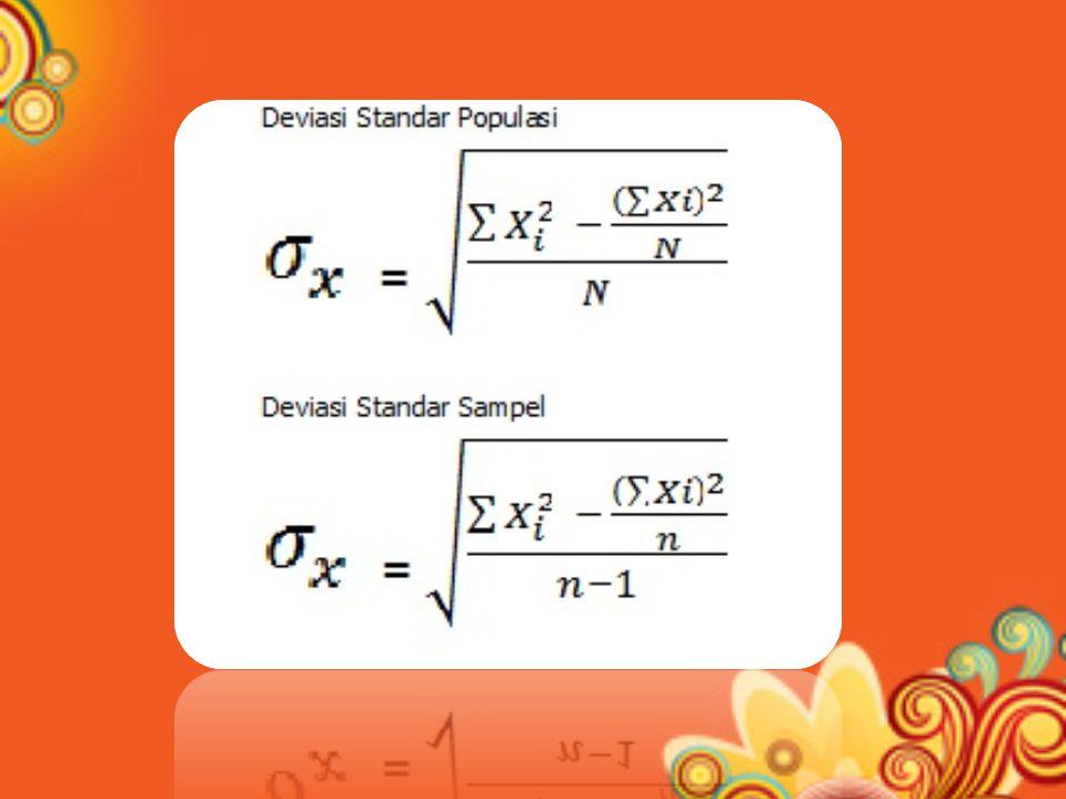OPERASIONAL KALKULATOR (CASIO FX 3600PV / PA / sejenisnya) Hidupkan kalkulator dengan menekan AC atau On Bersihkan kalkulator memorinya sebelum dipakai dengan cara menekan : – Shift AC atau Inv AC (Memori panjang) – Shift MR atau Inv MR (Memori Pendek) Mode statistik dengan cara : – Mode 3 untuk mode SD ( Standard Deviation ) – Mode 2 untuk mode LR ( Linier regression )
