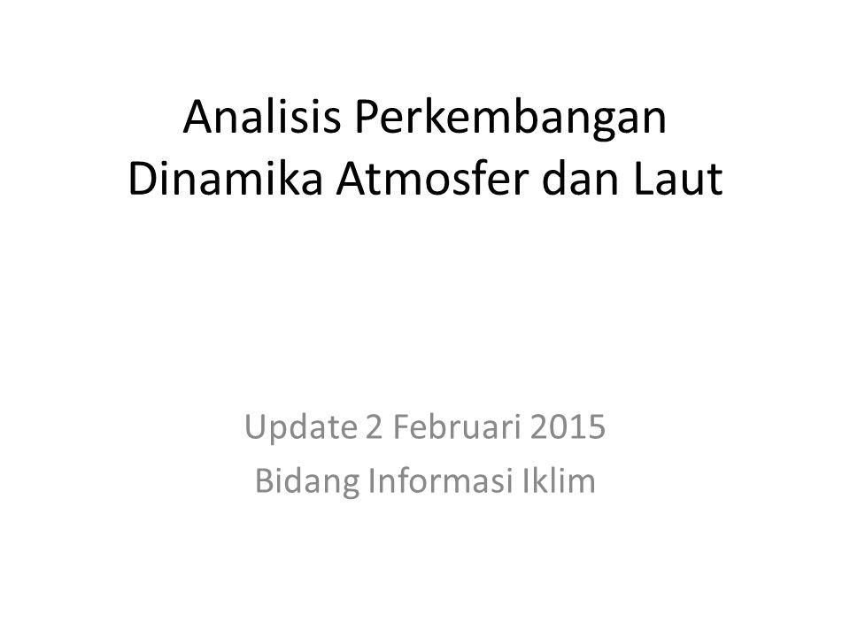 OUTLINE Kondisi Umum Analisis Dinamika Atmosfer dan Laut Dasarian III Januari 2015 Prakiraan Dinamika Atmosfer dan Laut Februari s.d.