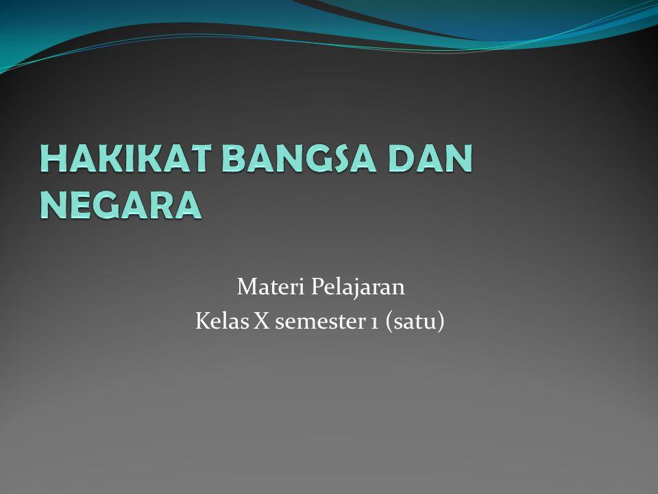 Materi Pelajaran Kelas X semester 1 (satu)