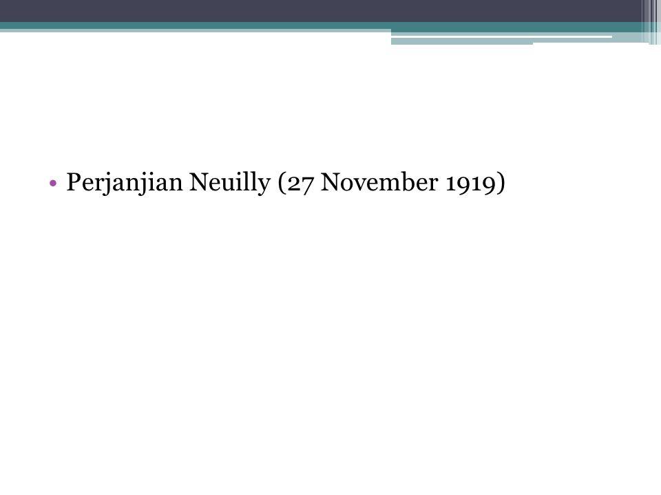 Perjanjian Neuilly (27 November 1919)