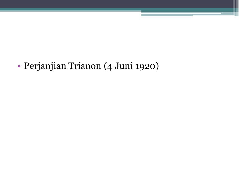 Perjanjian Trianon (4 Juni 1920)