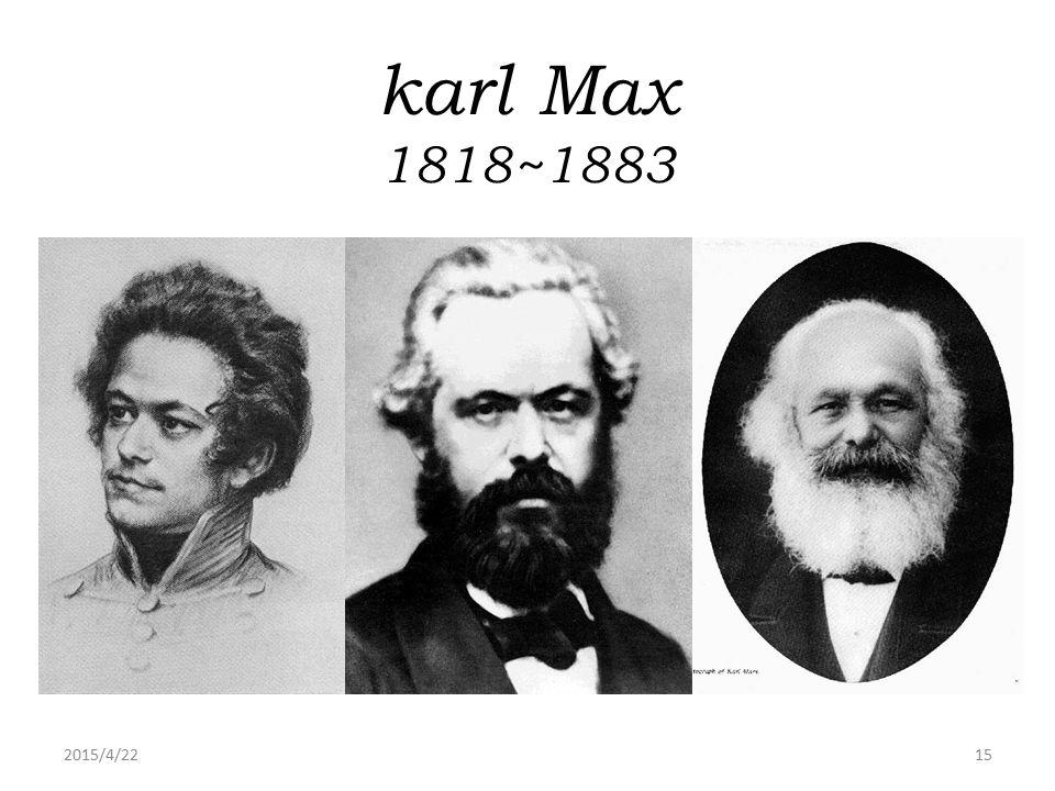 2015/4/2215 karl Max 1818~1883