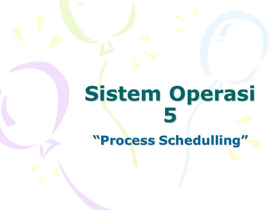 Basic Concept Tujuan Utama : agar proses-proses berjalan secara konkuren dan untuk memaksimalkan kinerja dari CPU.