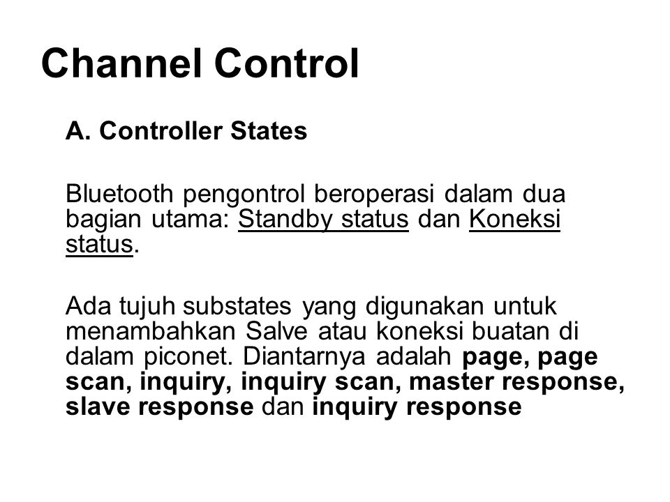 Channel Control A.