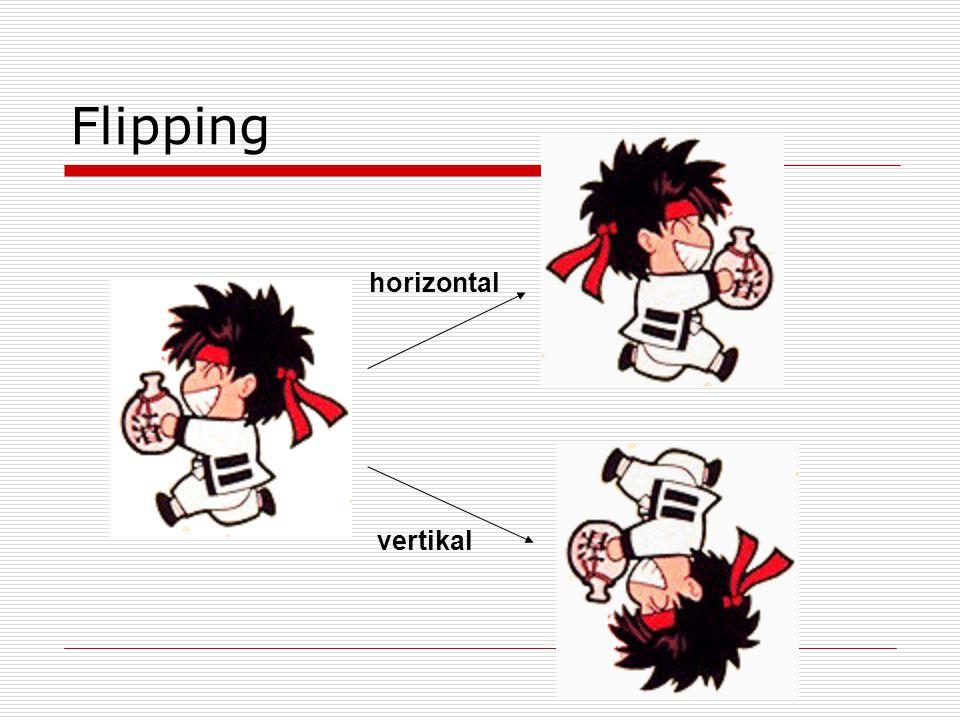 Flipping horizontal vertikal
