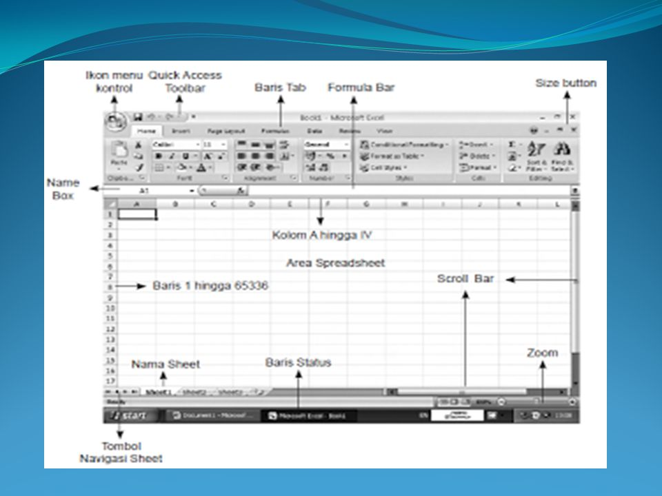 isi perintah-perintah ikon menu kontrol ini akan muncul saat ikon menu kontrol tersebut diklik, sebagaimana ditampilkan dalam gambar berikut.