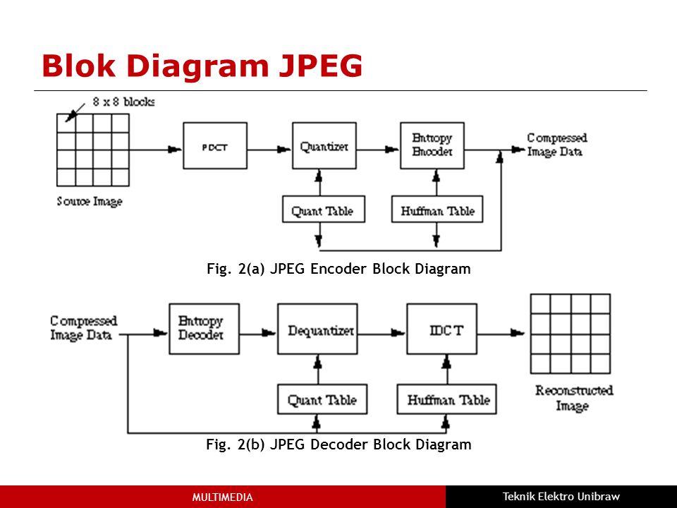 MULTIMEDIA Teknik Elektro Unibraw Blok Diagram JPEG Fig.
