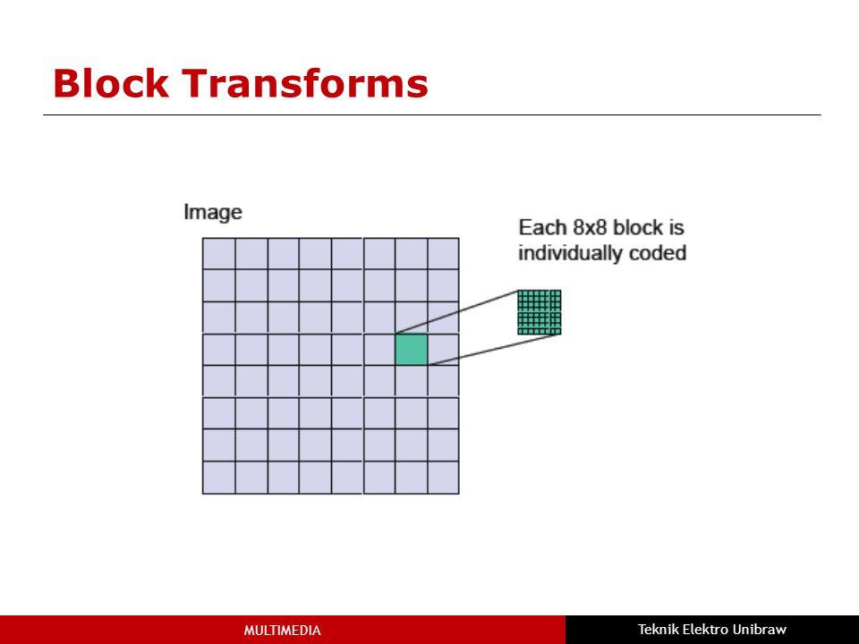 MULTIMEDIA Teknik Elektro Unibraw Block Transforms