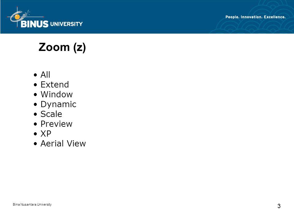 Bina Nusantara University 3 Zoom (z) All Extend Window Dynamic Scale Preview XP Aerial View