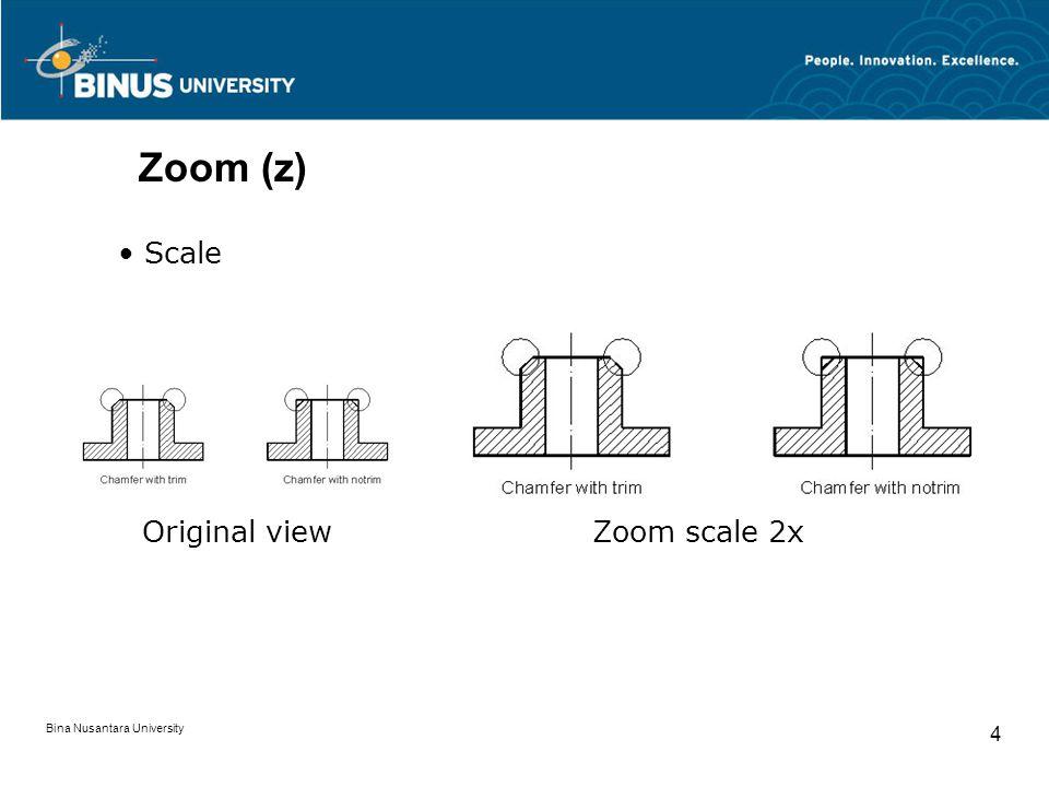 Bina Nusantara University 4 Zoom (z) Scale Original viewZoom scale 2x