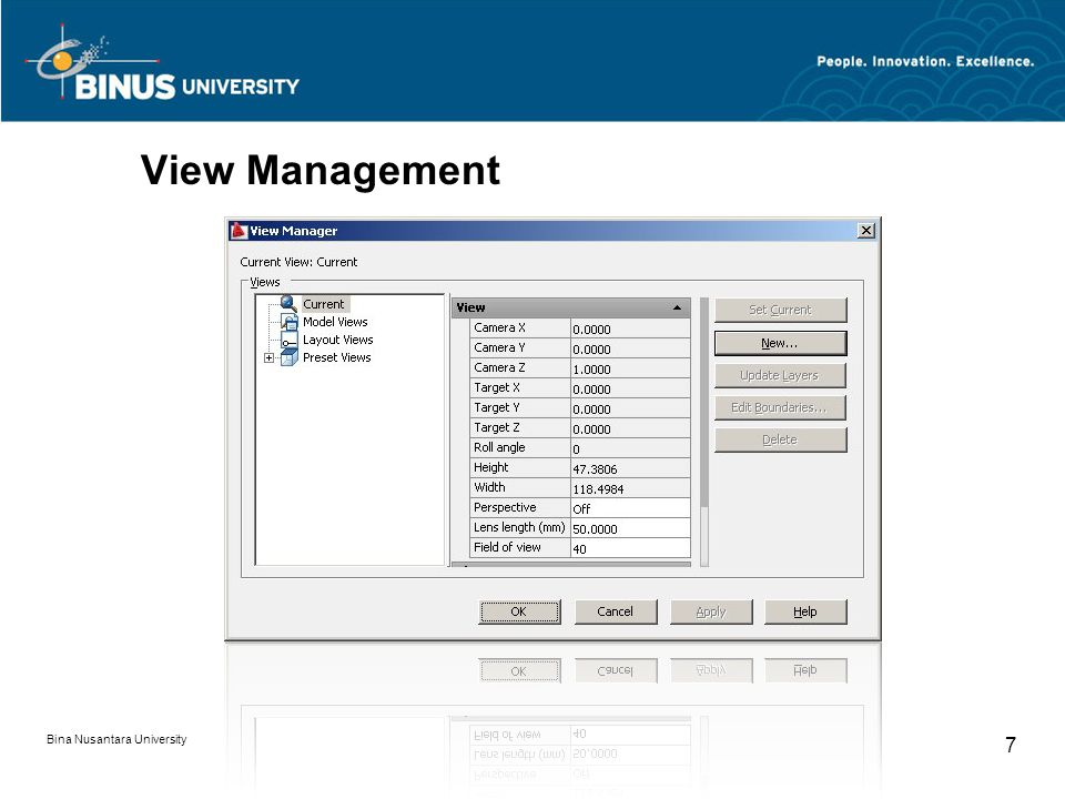 Bina Nusantara University 7 View Management