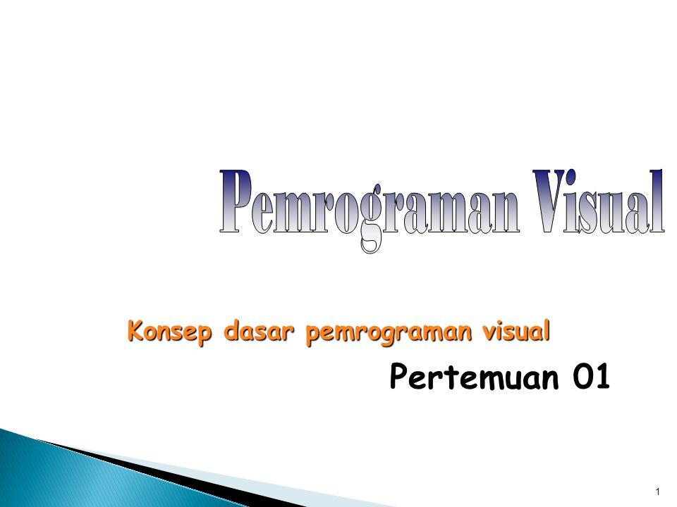 1 Pertemuan 01 Konsep dasar pemrograman visual