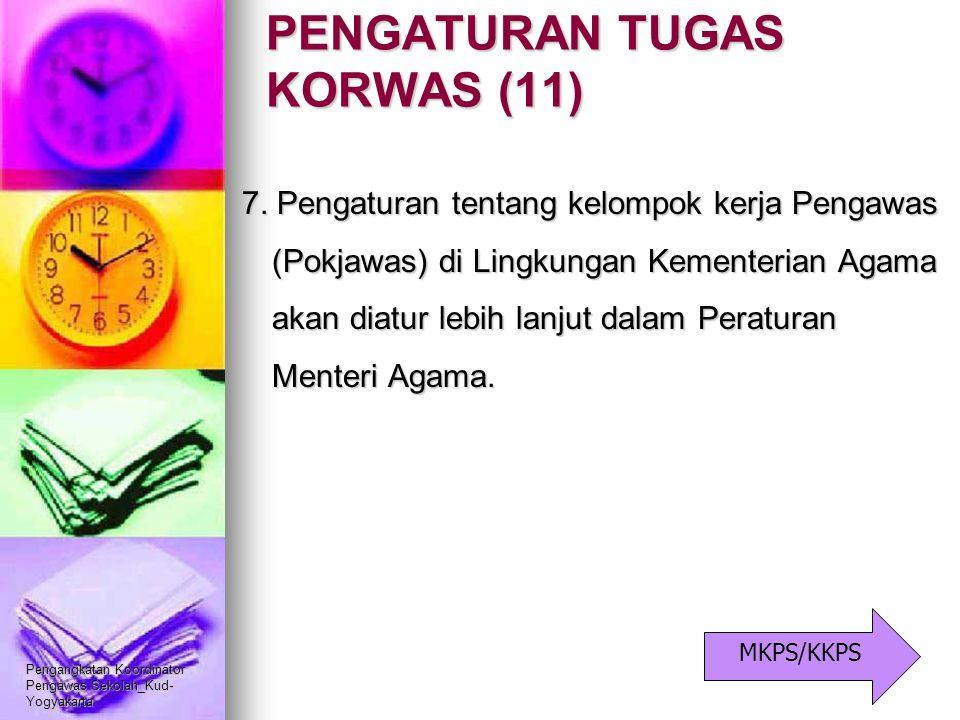 Pengangkatan Koordinator Pengawas Sekolah_Kud- Yogyakarta PENGATURAN TUGAS KORWAS (11) 7. Pengaturan tentang kelompok kerja Pengawas (Pokjawas) di Lin