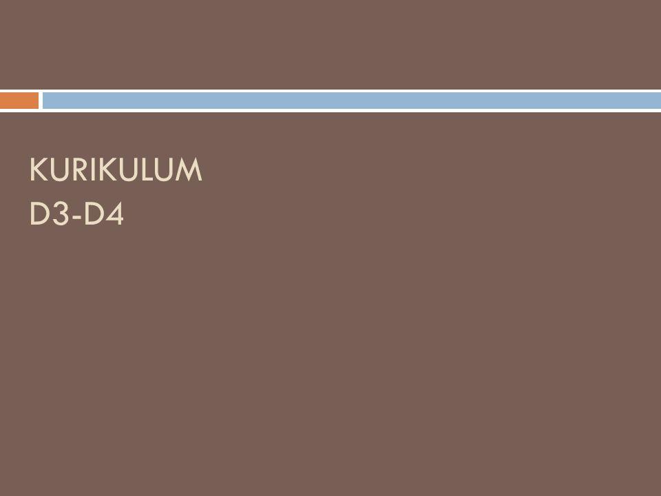 KURIKULUM D3-D4