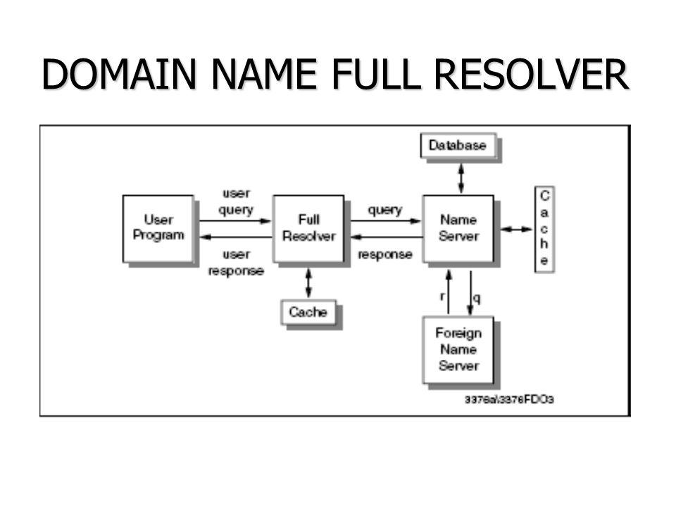 DOMAIN NAME STUB RESOLVER