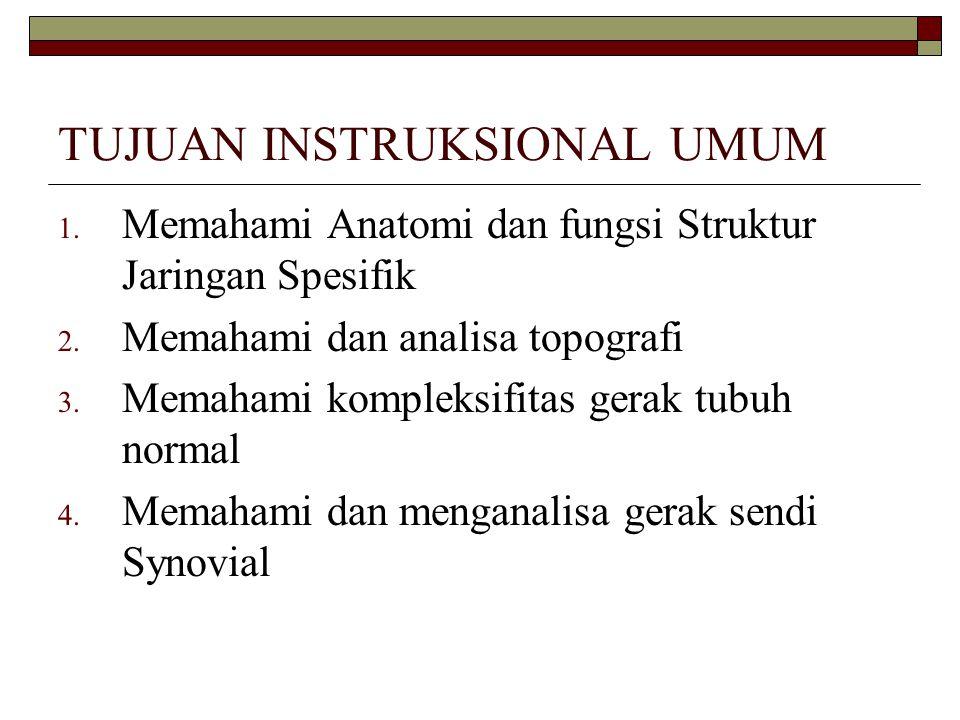 TUJUAN INSTRUKSIONAL KHUSUS Mahasiswa memahami anatomi terapan regio komplek panggul dengan cara : 1.