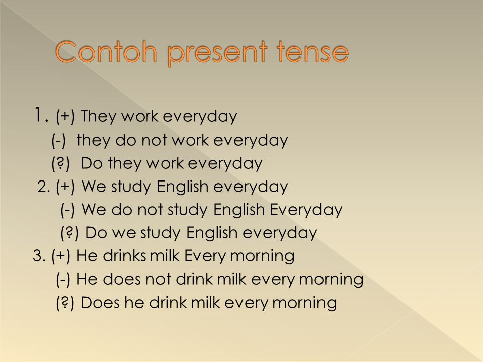 Change these sentences into positive negative or Interrogative sentences 1.